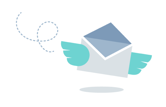 Flying Email Illustration