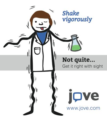 JoVE Journal Shake Vigorously