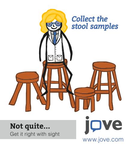 JoVE Journal Stool Sample