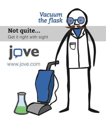 JoVE Journal Vacuum the Flask