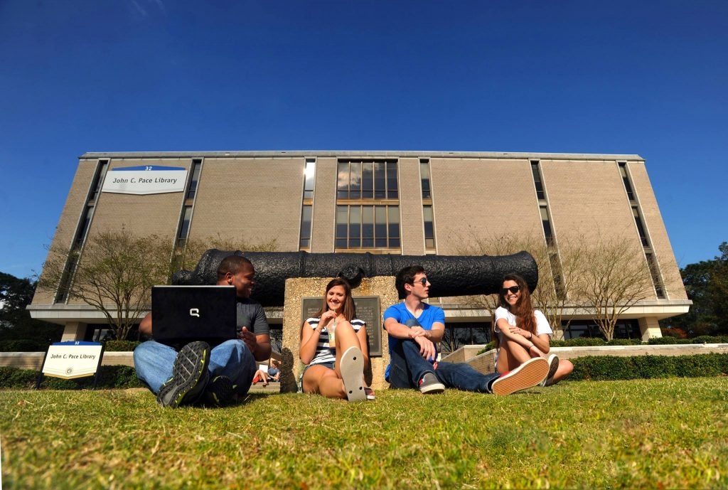 Students at the University of West Florida
